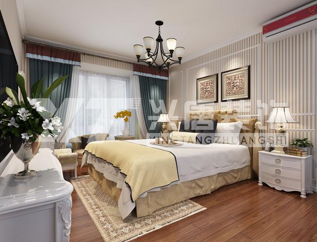 罗马景福城128平米简约美式卧室装修效果图