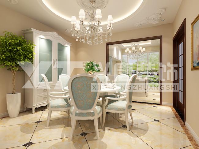 雅居乐铂琅峯240平米四室两厅两卫餐厅欧式装修效果图