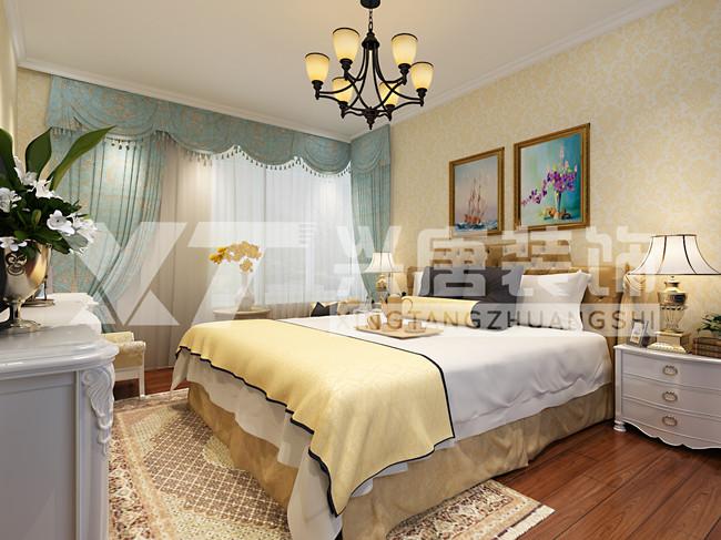 雅居乐铂琅峯240平米四室两厅两卫卧室欧式装修效果图