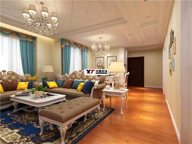 大秦郡138平米三室两厅两卫简欧装修效果图图片