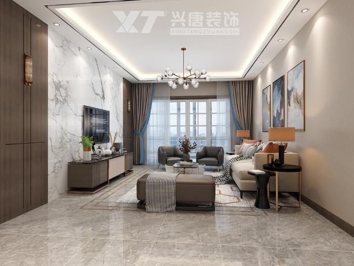 紫薇尚层客厅现代港式风格装修效果图